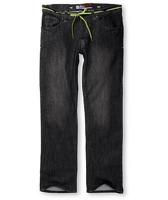 Matix Gripper Blacktastic Wash Skinny Jeans
