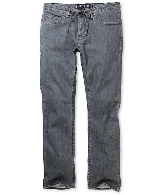 Matix Gripper Crispy Grey Skinny Jeans