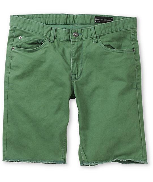 Matix Gripper Green Slim Straight Twill Shorts