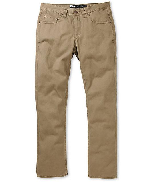 Matix Gripper Puddy Khaki Twill Slim Fit Pants