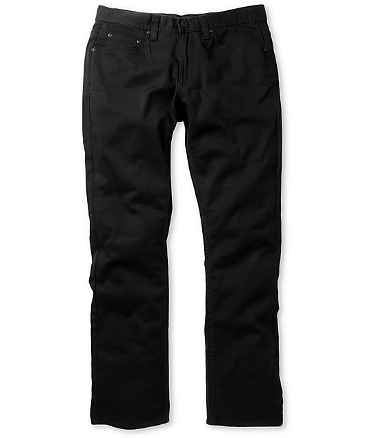Matix Gripper Slim Fit Twill Black Pants