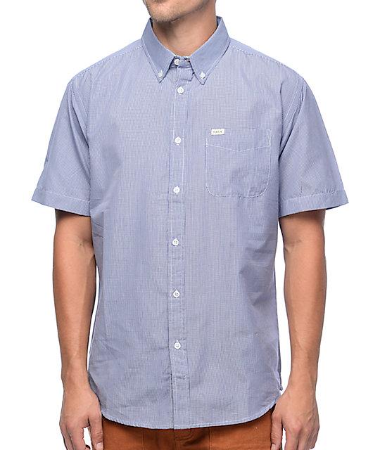 Matix Hyde Blue & White Gingham Plaid Button Up Shirt