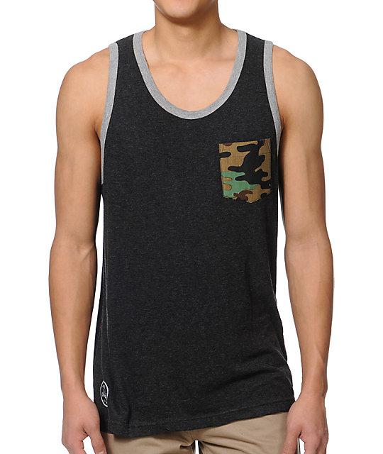 Matix JJ Charcoal & Camo Pocket Tank Top