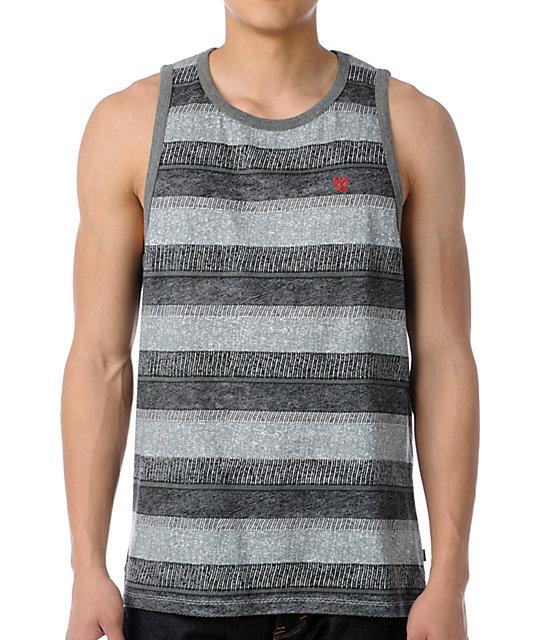 Matix Knit-Knat Grey & Black Stripe Knit Tank Top
