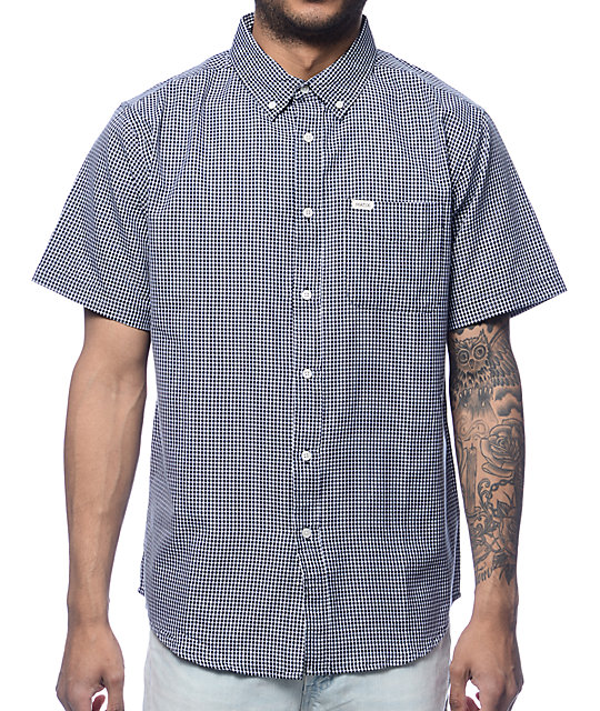 Matix Lennon Black & White Short Sleeve Button Up Shirt