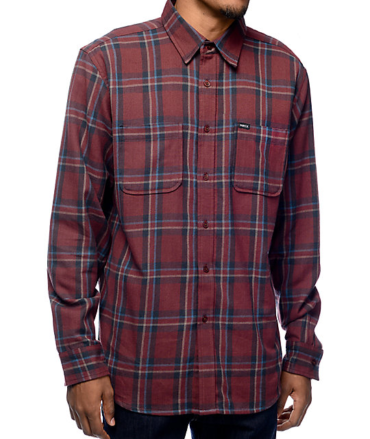 matix lincoln maroon flannel shirt zumiez