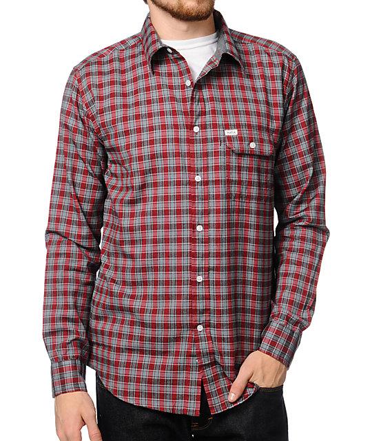 Matix Lomax Red Plaid Button Up Shirt