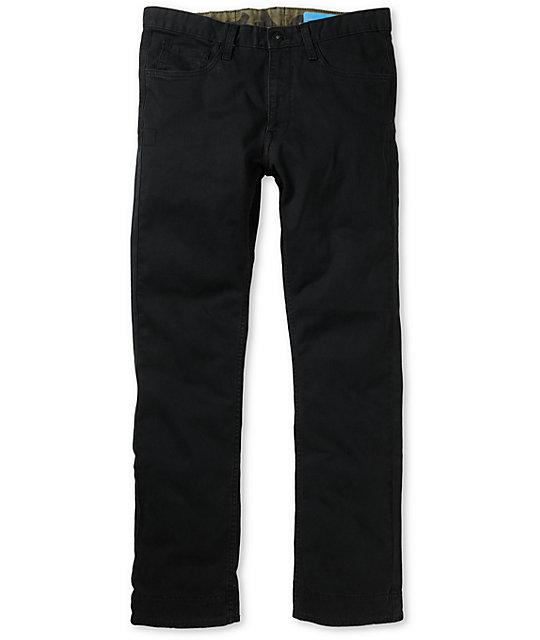 Matix Manderson Black Chino Regular Fit Pants