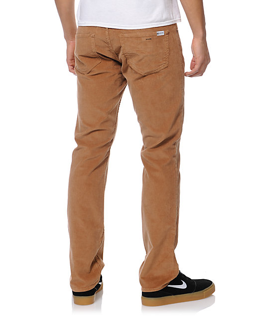 Matix Marc Johnson Caramel Brown Slim Corduroy Pants