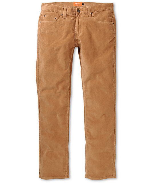 Matix Marc Johnson Caramel Brown Slim Corduroy Pants