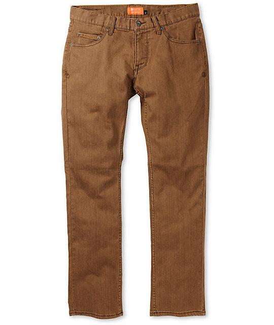 Matix Marc Johnson Harvest Worn Brown Slim Jeans