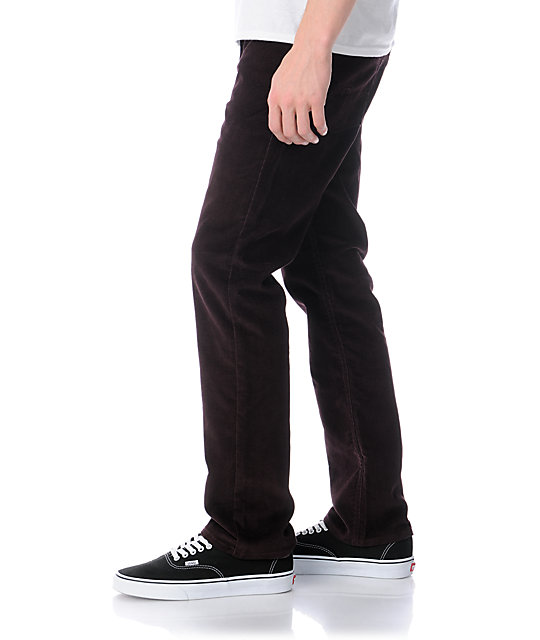 Matix Marc Johnson Plum Stretch Regular Fit Corduroy Pants