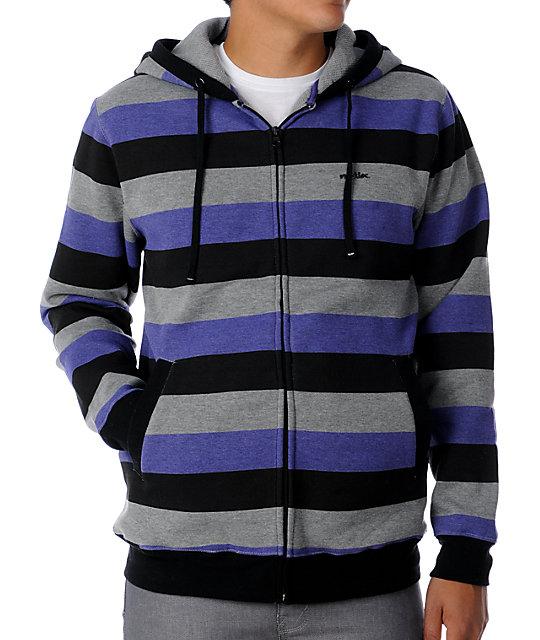 Matix Melby Grey Stripe Hoodie