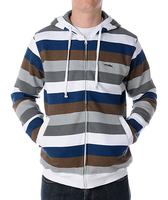 Matix Melby White Stripe Hoodie