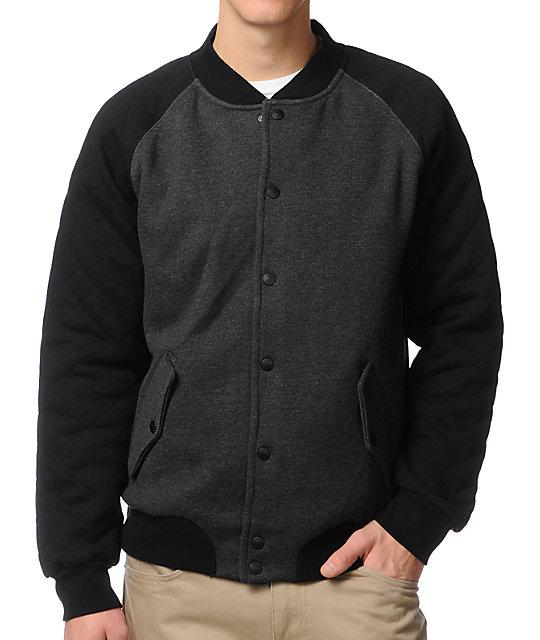 Matix Modern Black & Charcoal Varsity Jacket