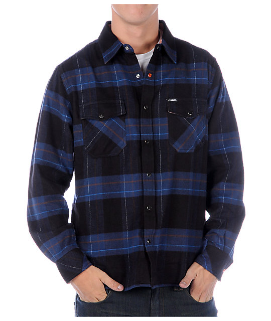 Matix Mofresh Blue Flannel Shirt