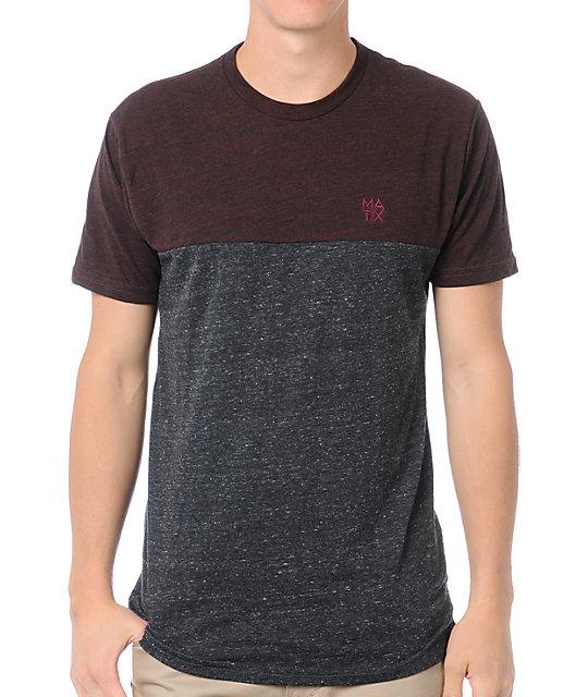 Matix Monostack Paneled Dark Knit Premium T-Shirt