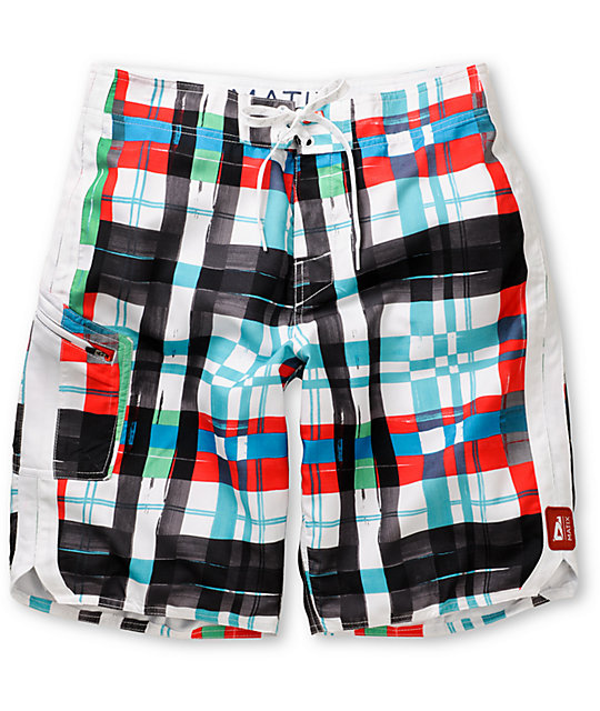 Matix Ringtong 11 White Board Shorts