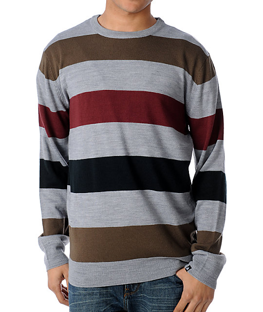 Matix Strapped Grey Crew Neck Sweater