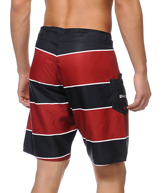 Matix Stringer Navy & Red Stripe 19 Board Short