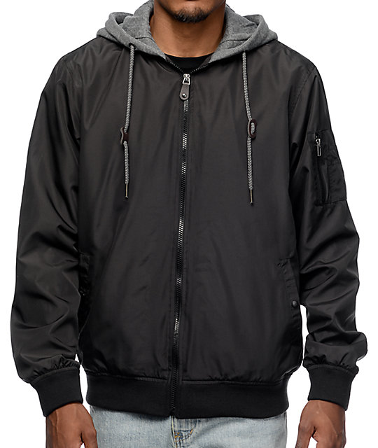 Swanson Black Bomber Jacket