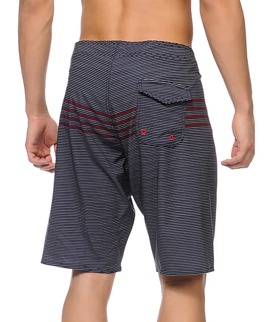 Matix Tight Lines Navy Stripe 21 Board Shorts