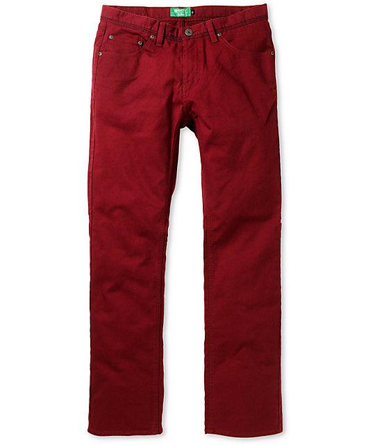 Matix Torey Bull Burgundy Regular Fit Jeans