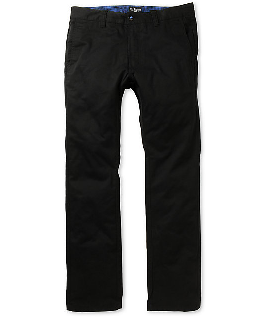 Matix Welder Black Slim Fit Chino Pants