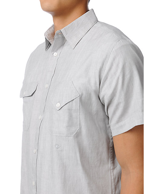 Matix x Diamond Supply Davis DMND Grey Button Up Shirt