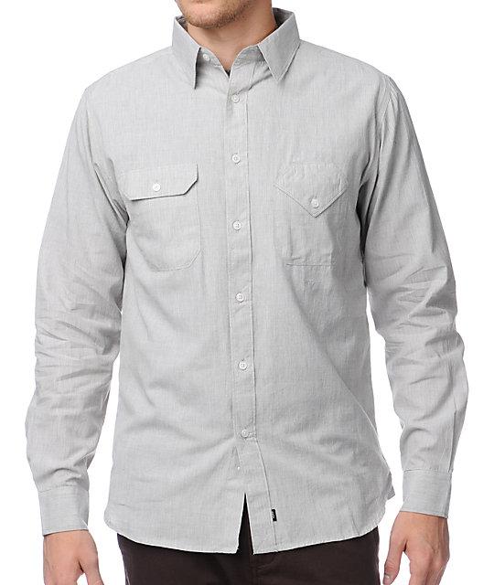 Matix x Diamond Supply Davis DMND Grey Long Sleeve Button Up Shirt