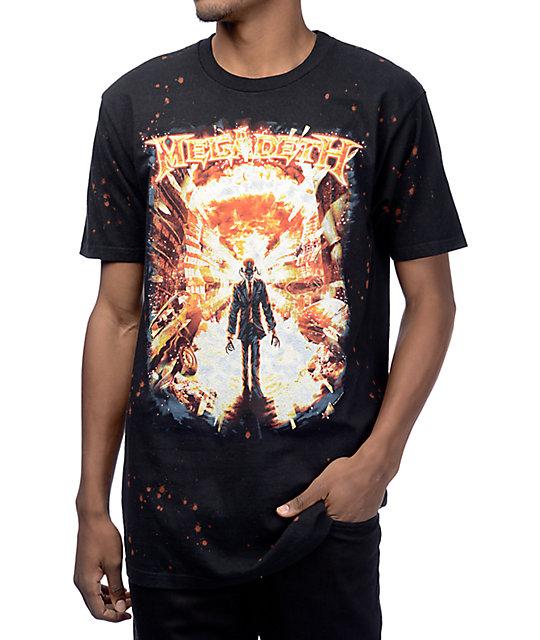 Megadeth Bleach Speckled Black T-Shirt | Zumiez