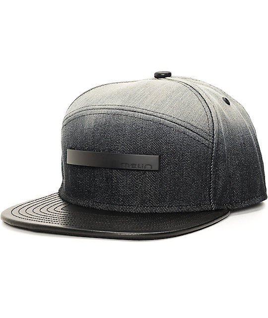 Melin Black Hole Grey & Black Strapback Hat