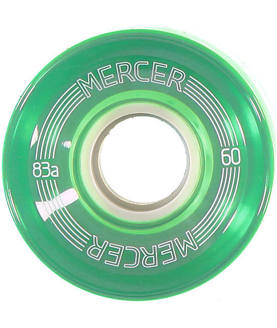 Mercer 60mm Clear Green 83a Cruiser Wheels