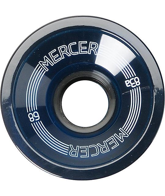 Mercer 68mm Blue 83a Longboard Wheels