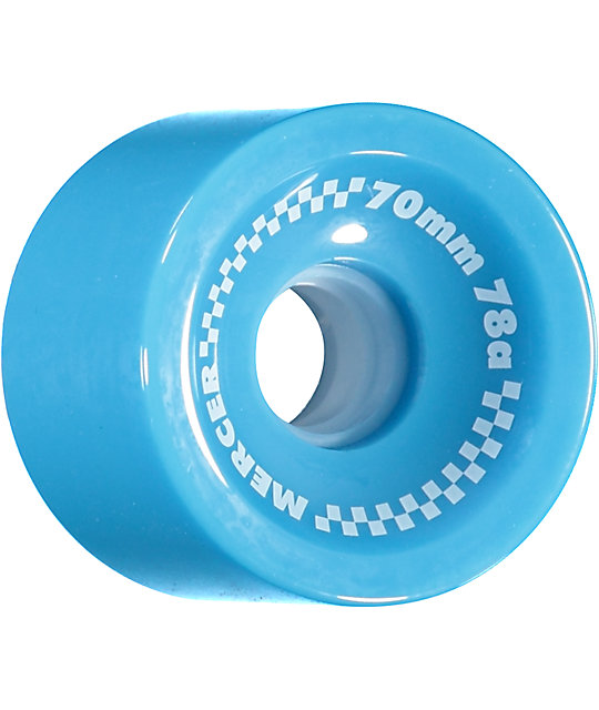 Mercer 70mm 78a Blue Skateboard Wheels
