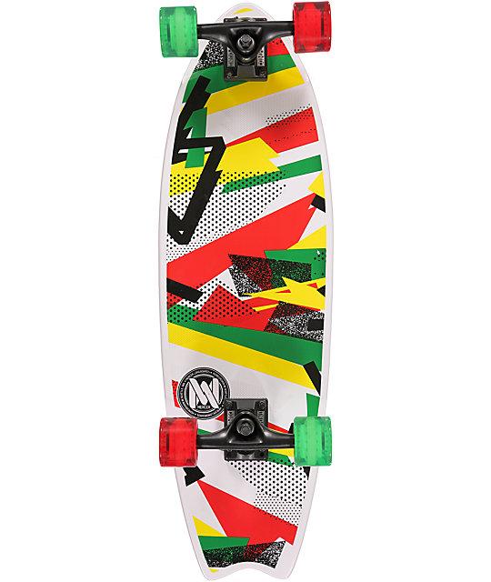 """Mercer Confetti Rasta 28""""  Cruiser Complete Skateboard"""