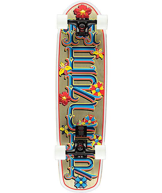 """Mercer Flower Power 34""""  Cruiser Complete Skateboard"""