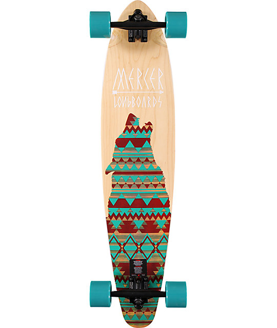 """Mercer Lone Wolf 37.5""""  Pin Tail Longboard Complete"""