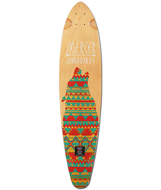 "Mercer Lone Wolf 37.5""  Pin Tail Longboard Deck"