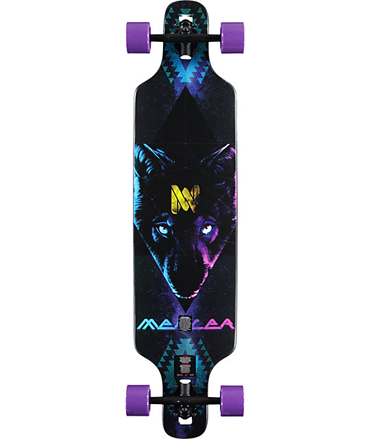 Mercer mystic wolf 40 drop through longboard complete at for Silverleaf com