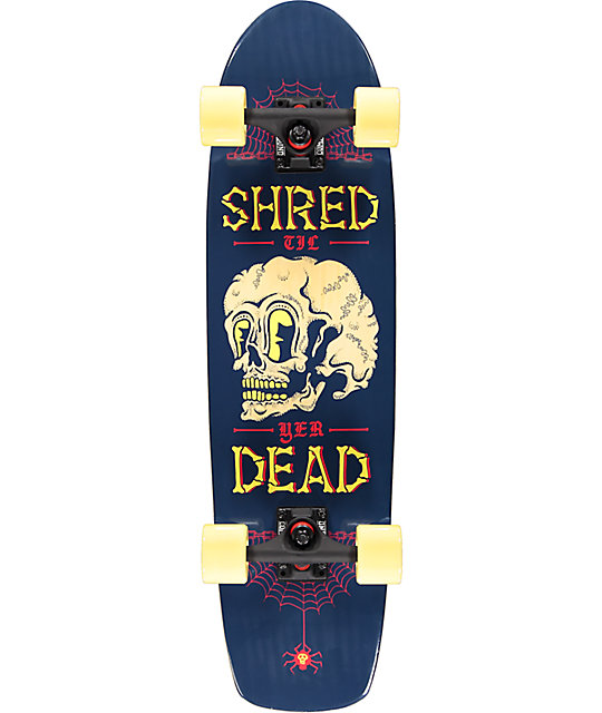 "Mercer Shred Til Yer Dead 31"" Cruiser Complete Skateboard"