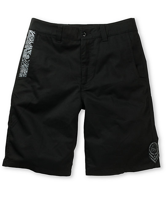 Metal Mulisha 6th Edition Black Chino Shorts