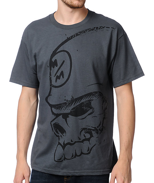 Metal Mulisha Arm Bar Charcoal Grey T-Shirt