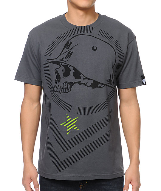 Metal Mulisha Bars Charcoal T-Shirt