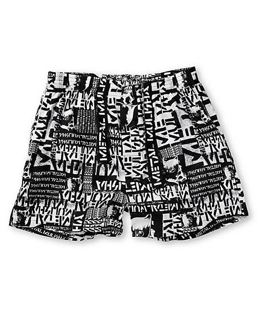 Metal Mulisha Bitter Print Black Boxer