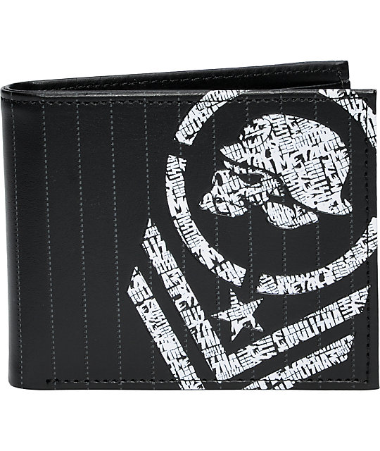 Metal Mulisha Black Cipher Bifold Wallet
