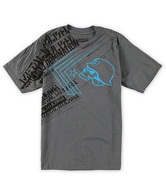 Metal Mulisha Boys Burst Charcoal T-Shirt