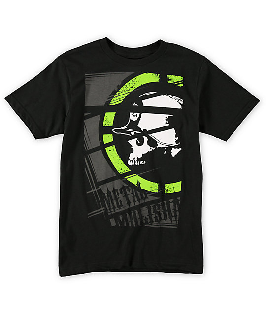 Metal Mulisha Boys Cropped Black T-Shirt
