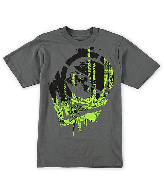 Metal Mulisha Boys Disarm Charcoal T-Shirt