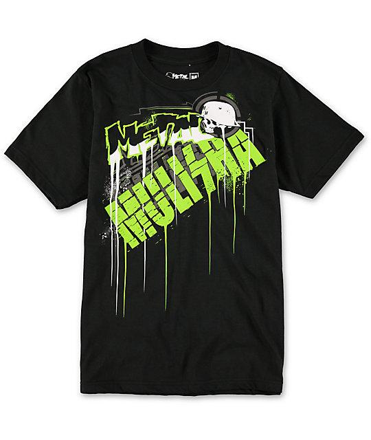 Metal Mulisha Boys Drip Black T-Shirt